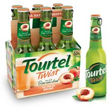 TOURTEL Bière Twist sans alcool 0,0% aromatisée à la pêche bouteilles 6x27,5cl