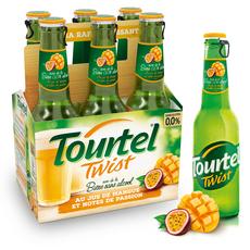 TOURTEL Bière Twist sans alcool 0,0% aromatisée à la mangue passion bouteilles 6x27,5cl
