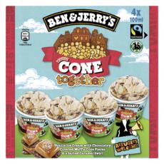 BEN & JERRY'S Mini pot de crème glacée Cone Together 4 pièces 300g
