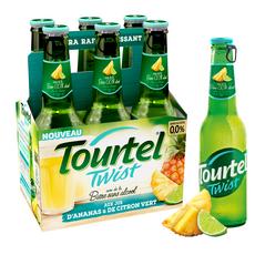 TOURTEL Bière Twist sans alcool 0,0% aromatisée à l'ananas citron vert bouteilles 6x27,5cl