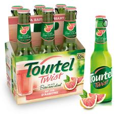 TOURTEL Bière Twist sans alcool 0,0% aromatisée aux agrumes bouteilles 6x27,5cl