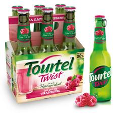 TOURTEL Bière Twist sans alcool 0,0% aromatisée à la framboise bouteilles 6x27,5cl