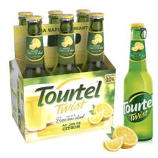 TOURTEL Bière Twist sans alcool 0,0% aromatisée au jus de citron bouteilles 6x27,5cl