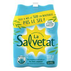 SALVETAT Eau minérale finement pétillante pauvre en sodium 6x1,15l