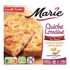 MARIE Quiche Lorraine aux lardons et jambon fumé 400g