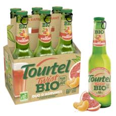 TOURTEL Twist bière sans alcool aromatisée duo d'agrumes bio bouteille 6x27,5cl