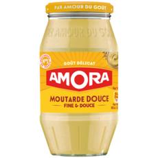 AMORA Moutarde fine et douce fabriqué en France 435g