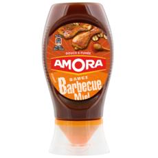 AMORA Sauce barbecue miel douce et fumée en squeeze top down 282g