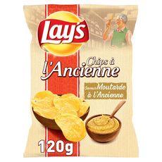 LAY'S Chips à l'ancienne goût moutarde à l'ancienne 120g