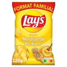 LAY'S Chips saveur moutarde pickles maxi format 220g