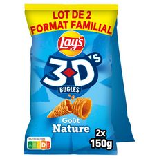 LAY'S 3D's bugles nature 2x150g