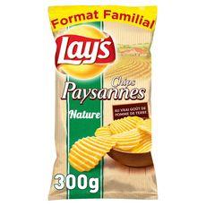 LAY'S Chips paysannes ondulées nature maxi format 300g