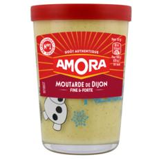 AMORA Moutarde de Dijon fine et forte en verre 195g