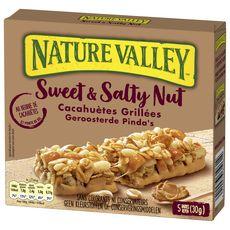 NATURE VALLEY Barres de céréales au beurre de cacahuètes 5 barres 30g