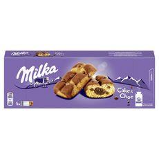 MILKA Cake & choc gâteaux aux pépites de chocolat, sachets individuels 5 gâteaux 175g