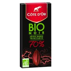 COTE D'OR Tablette de chocolat noir bio 70% fèves rares trinitario 1 pièce 90g