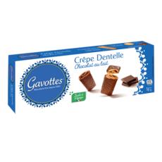 GAVOTTES Biscuits crêpes dentelles enrobées au chocolat au lait 90g