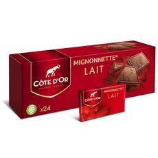 COTE D'OR Mignonnettes de chocolat au lait 24 pièces 240g