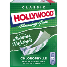 HOLLYWOOD Classic chewing-gums tablettes chlorophylle 5x11 tablettes 155g