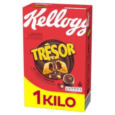 KELLOGG'S Trésor Céréales fourrées chocolat noisettes 1kg