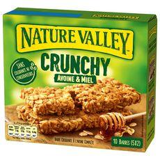 NATURE VALLEY Crunchy barres de céréales avoine et miel 10 barres 210g