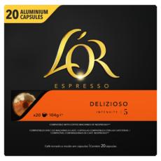 L'OR ESPRESSO Capsules de café delizioso compatibles Nespresso 20 capsules 104g