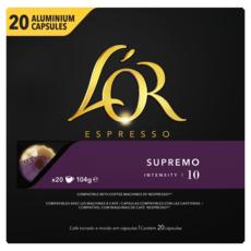 L'OR ESPRESSO Capsules de café supremo compatibles Nespresso 20 capsules 104g