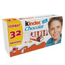 KINDER Barres chocolatées fourrées au lait 2x16 pièces 400g