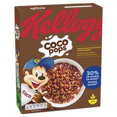 KELLOGG'S Coco Pops Céréales au chocolat 30% de sucres en moins 350g