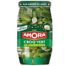 AMORA Cornichons fins aux 6 épices et aromates en bocal 540g