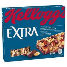 X•TRA EXTRA Barre de céréales aux amandes grillées et chocolat au lait