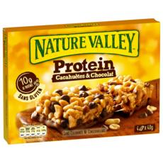 NATURE VALLEY Protein barres de céréales cacahuètes et chocolat 4 barres 160g