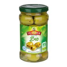 TRAMIER Olives vertes dénoyautées bio 130g