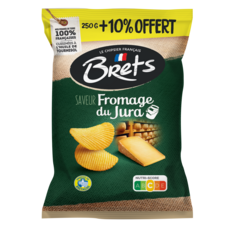 BRETS Chips au fromage du Jura  250g +10% offert