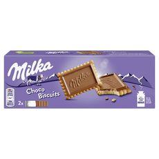 MILKA Biscuits recouverts de chocolat au lait sachets fraîcheur 2x6 biscuits 150g