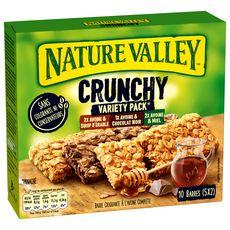 NATURE VALLEY Crunchy Barres de céréales panachées  10 pièces  210g