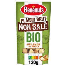 BENENUTS Plaisir Brut Mélange de noix bio non salées 120g