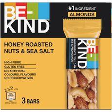 BE KIND Barres de céréales nuts et sel de mer 3 barres 90g