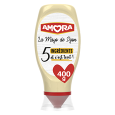 AMORA La mayo de Dijon 5 ingrédients et c'est tout! en squeeze top down 400g