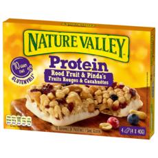 NATURE VALLEY Protein barres de céréales fruits rouges et cacahuètes 4 barres 160g