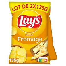 LAY'S Chips saveur fromage 2x135g