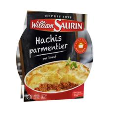WILLIAM SAURIN Hachis parmentier pur bœuf sans colorant barquette 2min au micro-ondes 1 personne 300g
