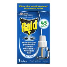 RAID Recharge pour diffuseur électrique anti-moustiques & moustiques tigres efficace 45 nuits 1 recharge