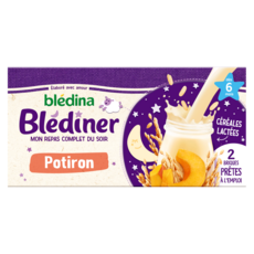 BLEDINA Blédîner brique céréales lactées au potiron dès 6 mois 2x250ml