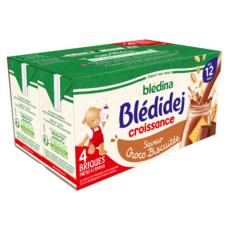 BLEDINA Blédidej céréales lactées choco-biscuitée dès 12 mois 4x250ml