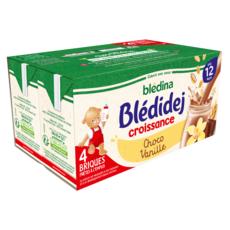 BLEDINA Blédidej céréales lactées choco-vanille dès 12 mois 4x250ml