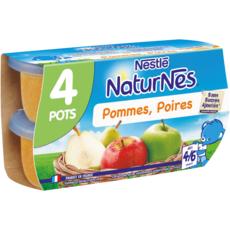 NESTLE Naturnes petit pot dessert pomme poire dès 4 mois 4x130g