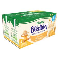 BLEDINA Blédidej céréales lactées saveur biscuitée dès 6 mois 4x250ml
