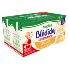 BLEDINA Blédidej céréales lactées biscuité vanille dès 12 mois 4x250ml