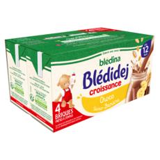 BLEDINA Blédidej céréales lactées chocolat banane dès 12 mois 4x250ml